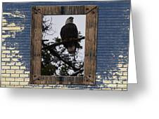 Blue Brick Greeting Card by Greg Patzer