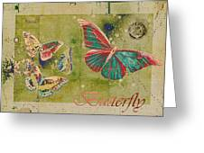Blue Butterfly Etc - S55ct01 Greeting Card by Variance Collections