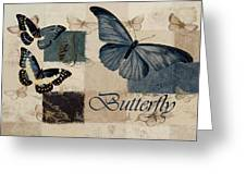 Blue Butterfly - J118118115-01a Greeting Card by Variance Collections