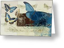 Blue Butterfly - J152164152-01 Greeting Card by Variance Collections
