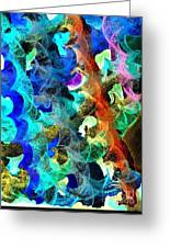 Blue Chain Greeting Card by Julio Haro