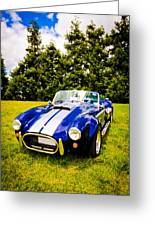 Blue Cobra Greeting Card by Phil 'motography' Clark