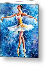 Blue Dance Greeting Card by Leonid Afremov