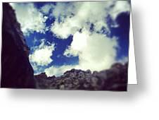 Blue Desert Sky Greeting Card by Edward Pollick