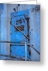 Blue Door On The Silo Greeting Card by Daniel Baumer