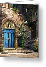 Blue Door Greeting Card by Tim Davis