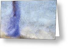 Blue Dream. Impressionism Greeting Card by Jenny Rainbow