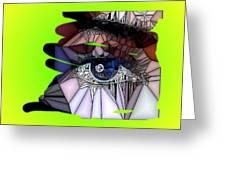 Blue Eye Greeting Card by HollyWood Creation By linda zanini
