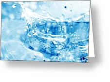 Blue Fresh Water  Greeting Card by Michal Bednarek