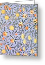 Blue Fruit Greeting Card by William Morris