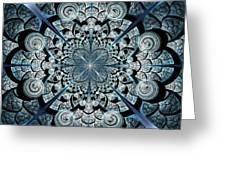 Blue Gates Greeting Card by Anastasiya Malakhova