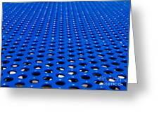 Blue Grate Greeting Card by Robert Keenan