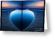 Blue Hour Diptych Greeting Card by Adrian Evans