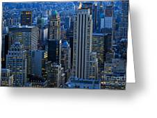 Blue Hour In New York City Usa Greeting Card by Sabine Jacobs