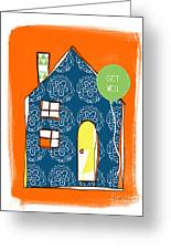 Blue House Get Well Card Greeting Card by Linda Woods