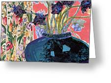 Blue in Blue Greeting Card by Diane Fine