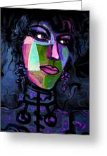 Blue Lady Greeting Card by Natalie Holland