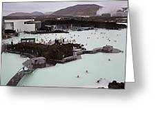 Blue Lagoon Greeting Card by Dawn Williamson
