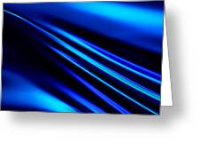 Blue Light Greeting Card by Art Block Collections