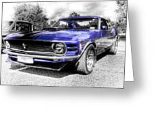 Blue Mach 1 Greeting Card by motography aka Phil Clark