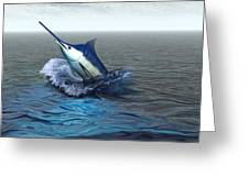 Blue Marlin Greeting Card by Corey Ford