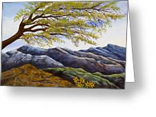 Blue Mountains Greeting Card by Susan Culver