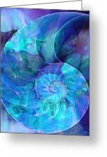 Blue Nautilus Shell By Sharon Cummings Greeting Card by Sharon Cummings