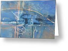 Blue Peace Greeting Card by Patricia Mayhew Hamm