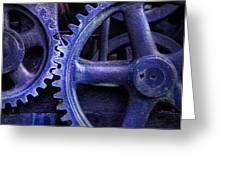 Blue Power Greeting Card by David and Carol Kelly