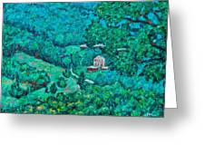 Blue Ridge Magic Greeting Card by Kendall Kessler