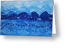 Blue Ridge Original Painting Greeting Card by Sol Luckman