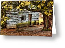 Blue Ridge Parkway - Mabry Mill Building In The Rain Greeting Card by Dan Carmichael