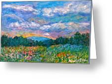 Blue Ridge Wildflowers Greeting Card by Kendall Kessler