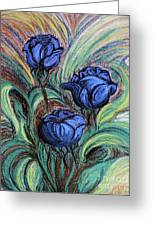 Blue Roses Greeting Card by Jasna Dragun