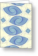 Blue Shells Greeting Card by Anastasiya Malakhova