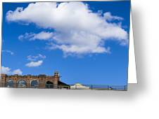 Blue Sky Bricks Greeting Card by Frank Winters