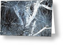 Blue Snow Greeting Card by Kathleen Struckle