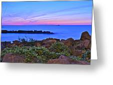 Blue Sunset Greeting Card by Frozen in Time Fine Art Photography
