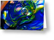 Blue Swirls Greeting Card by David Patterson