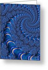 Blue Tubes Greeting Card by John Edwards