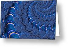 Blue Tubes Greeting Card by John Edwards