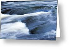 Blue Waltz Greeting Card by Glenn Gordon