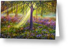 Bluebell Woods Greeting Card by Ann Marie Bone