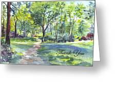 Bluebell Woods  Thank You Greeting Card by Carol Wisniewski