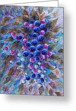 Blueberries Greeting Card by Natalie Holland