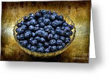 Blueberry Elegance Greeting Card by Andee Design