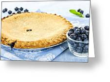 Blueberry Pie Greeting Card by Elena Elisseeva