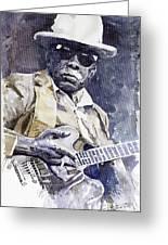 Bluesman John Lee Hooker 3 Greeting Card by Yuriy  Shevchuk