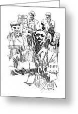 Bluesmen Greeting Card by J W Kelly