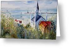 Bluff View St. Annes Mackinac Island Greeting Card by Sandra Strohschein